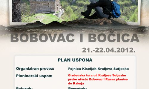 """BOBOVAC - PL. DOM """"BOČICA"""" - dvodnevna planinarska tura"""